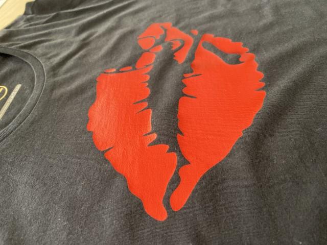Tshirt bacio metallico (Piccola)